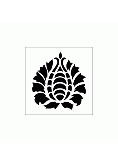 Artikel William Morris Stencil Tasarımı 30 x 30 cm Renkli
